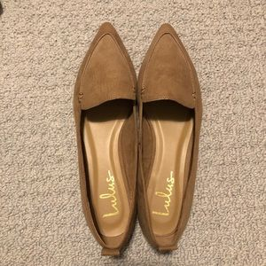 🛍 2/$15 New Pointy Toe Loafer Lulus Tan sz 8.5